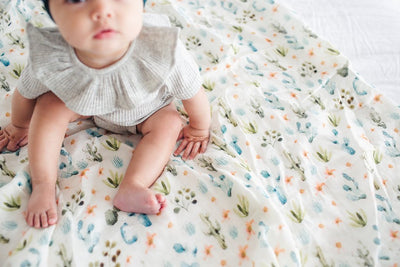 Loulou Lollipop Bamboo Muslin Swaddle Blanket - Cactus Floral