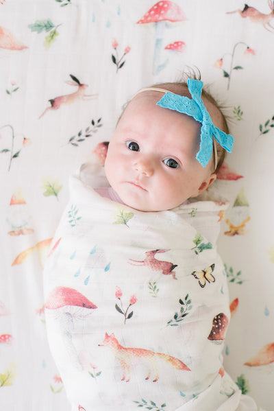 Loulou Lollipop Bamboo Muslin Swaddle Blanket - Woodland Gnome
