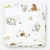 Little Blue Nest Organic Cotton Muslin Swaddle Blanket - Woodland Hedgehog