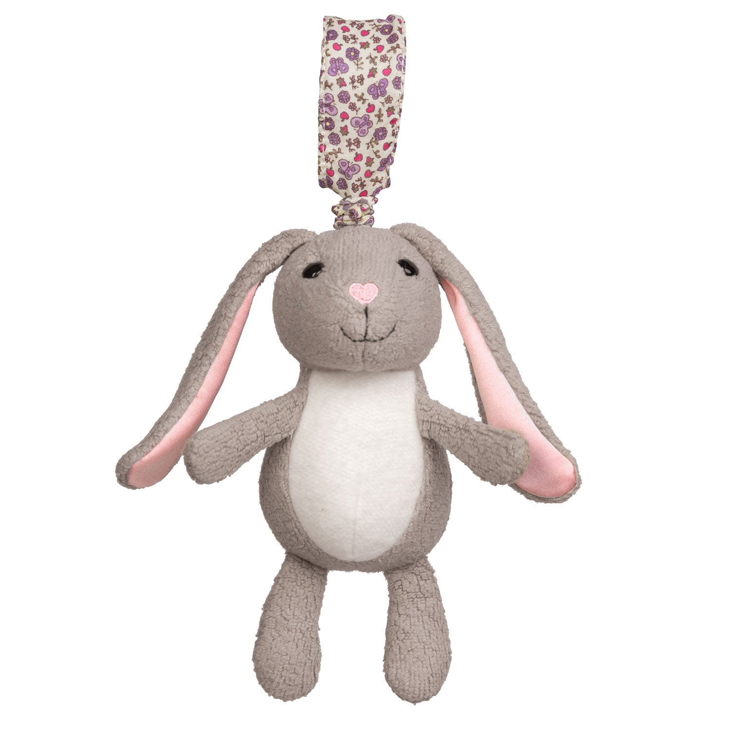 Apple Park Organic Cotton Stroller Toy Bunny