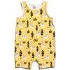 Winter Water Factory Organic Tank Top Romper Giraffes Yellow