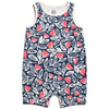 Winter Water Factory Organic Tank Top Romper Holland Floral Navy
