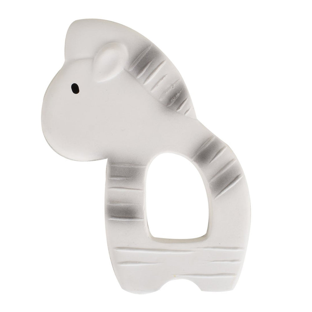 Tikiri Toys Natural Rubber Teether - Zebra