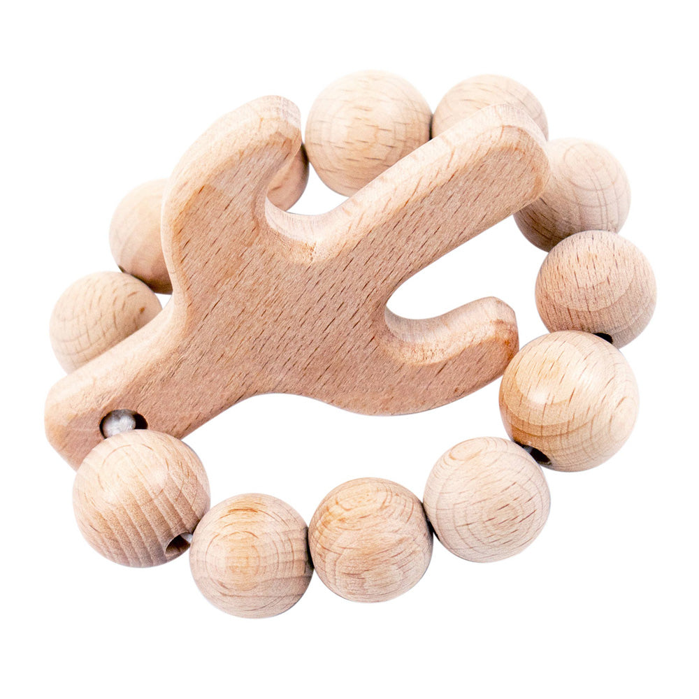 Bebe Au Lait Natural Wooden Teether - Cactus