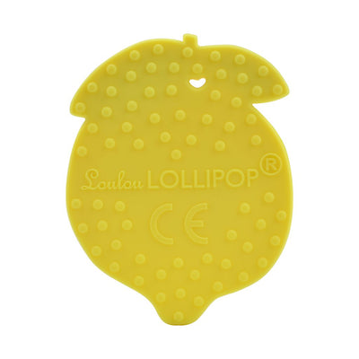 Loulou Lollipop Silicone Teether - Lemon