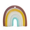 Loulou Lollipop Silicone Teether Neutral Rainbow