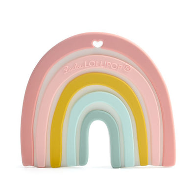 Loulou Lollipop Silicone Teether Pastel Rainbow