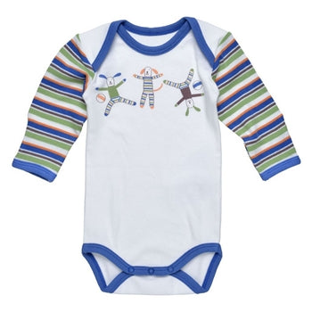 Under the Nile Organic Long Sleeve Bodysuit - Scrappy Dog