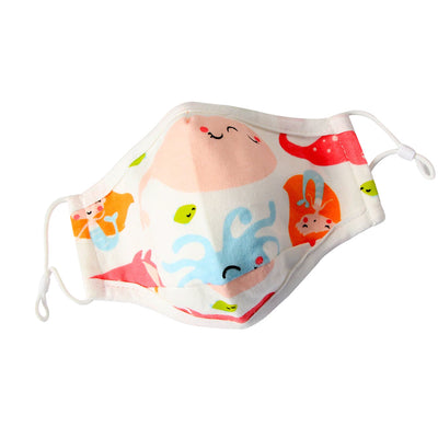 Kids Cotton Face Mask with filter pocket - Under the Sea