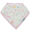 Loulou Lollipop Muslin Bandana Bib Set - Unicorn Dream