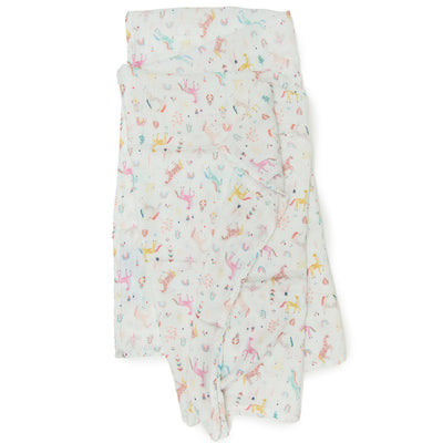 Loulou Lollipop Bamboo Muslin Swaddle Blanket - Unicorn Dream