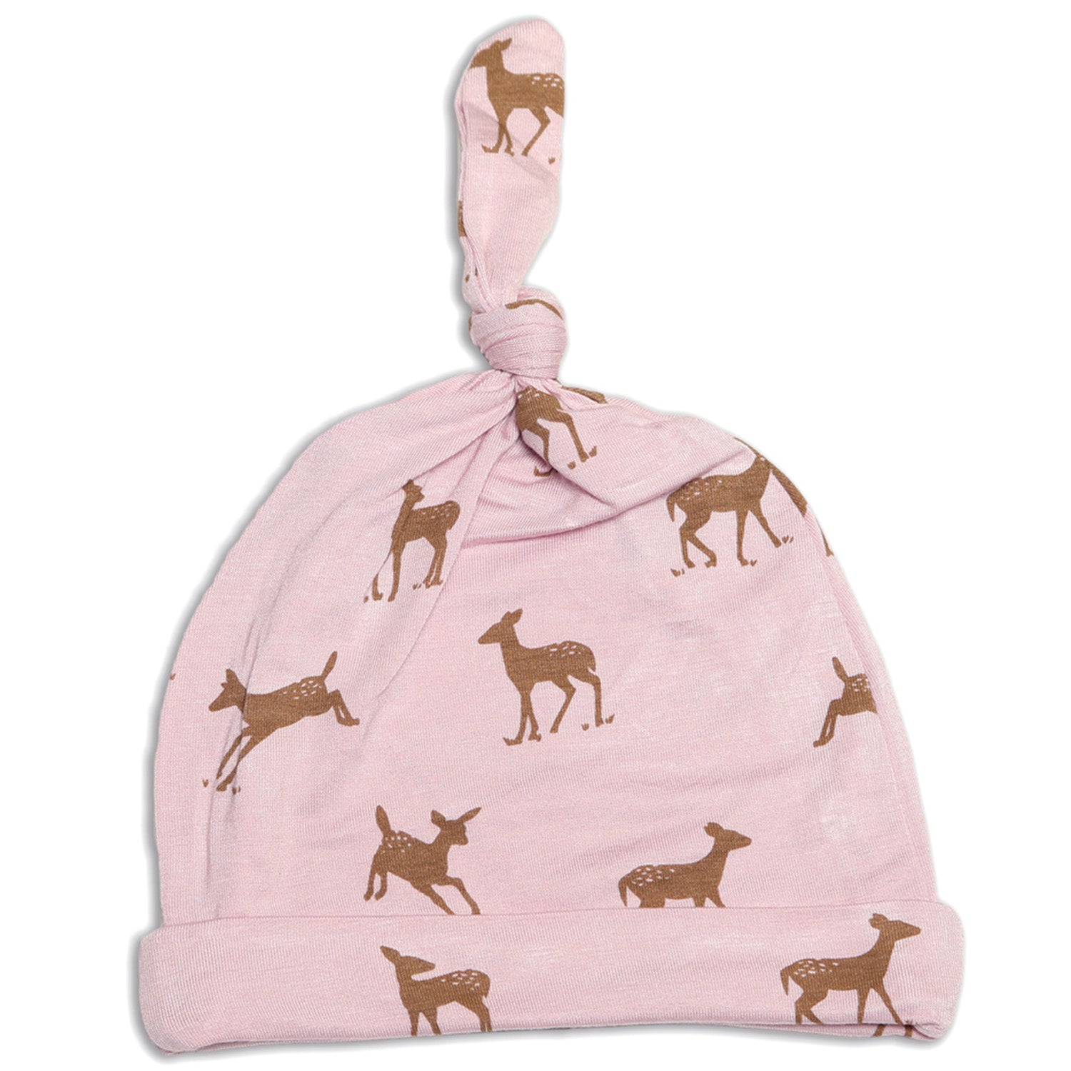 Silkberry Baby Bamboo Knot Hat - Autumn Deer