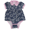 Silkberry Baby Bamboo Skirted Bodysuit - Twilight Heart