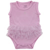 Silkberry Baby Bamboo Sleeveless Onesie with Tulle Ruffle - Orchid