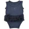 Silkberry Baby Bamboo Sleeveless Onesie with Tulle Ruffle - Twilight