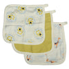 Silkberry Baby Bamboo Muslin Washcloth Set 3 Pack - Monkey Pear Giraffe