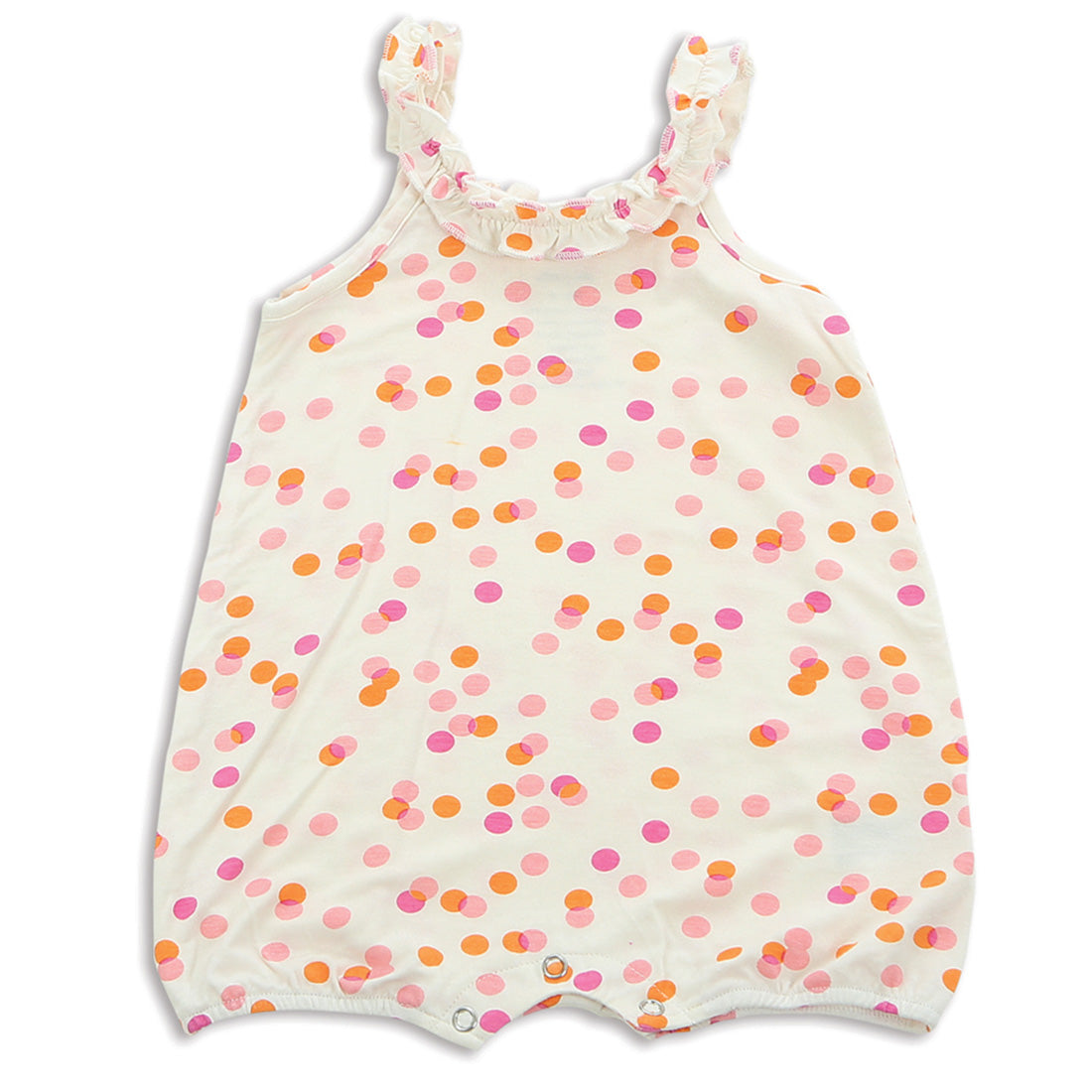 Silkberry Baby Bamboo Ruffle Romper - Confetti Sprinkles