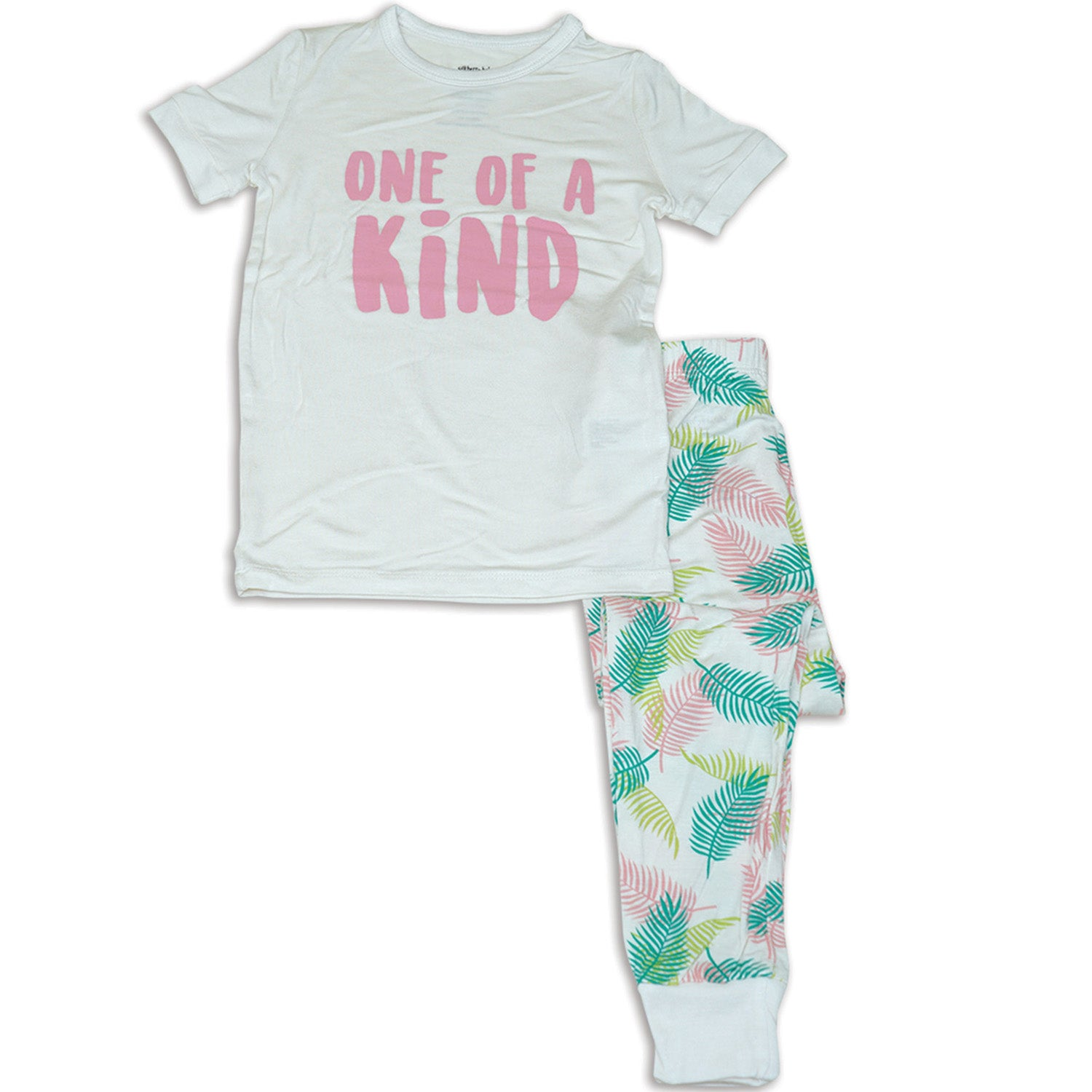 Silkberry Baby Bamboo Short Sleeve Pajama Set - Tropical Palm