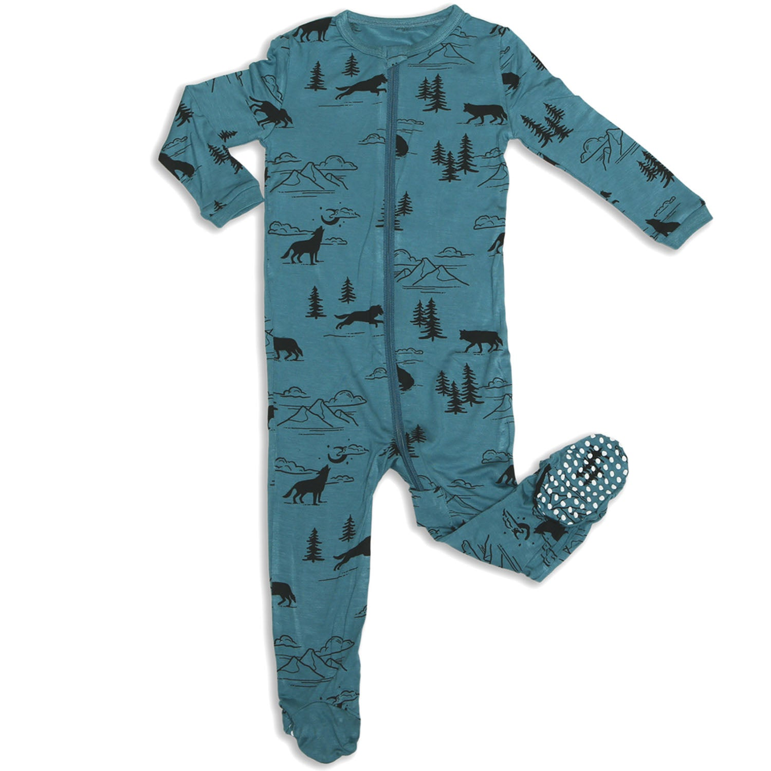 Silkberry Baby Bamboo Footie Sleeper Call of the Wild