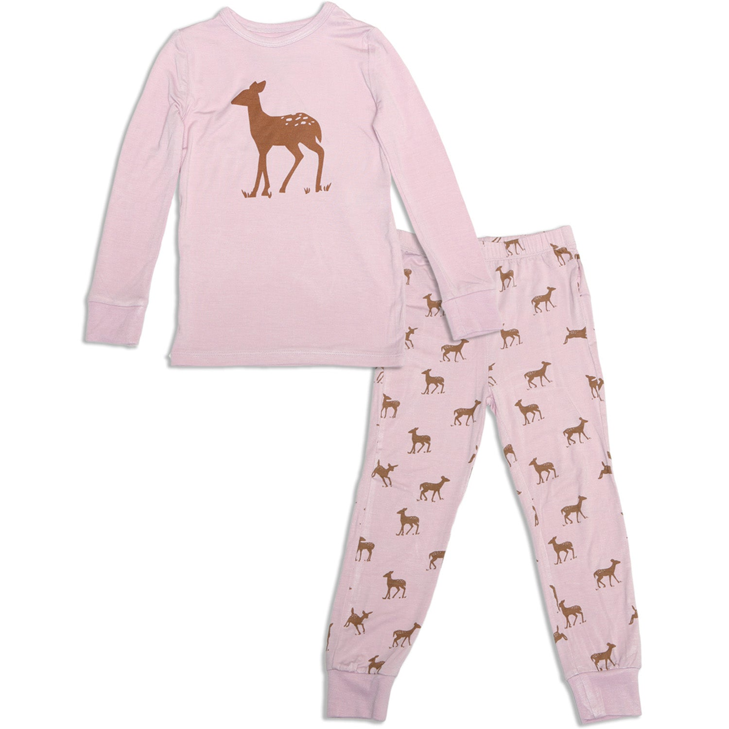 Silkberry Baby Bamboo Long Sleeve Pajama Set - Autumn Deer