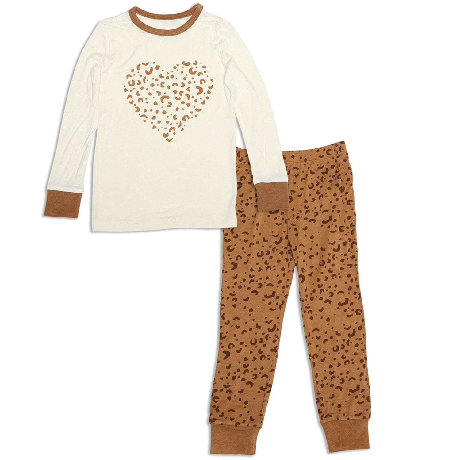 Silkberry Baby Bamboo Long Sleeve Pajama Set - Geometric Leopard