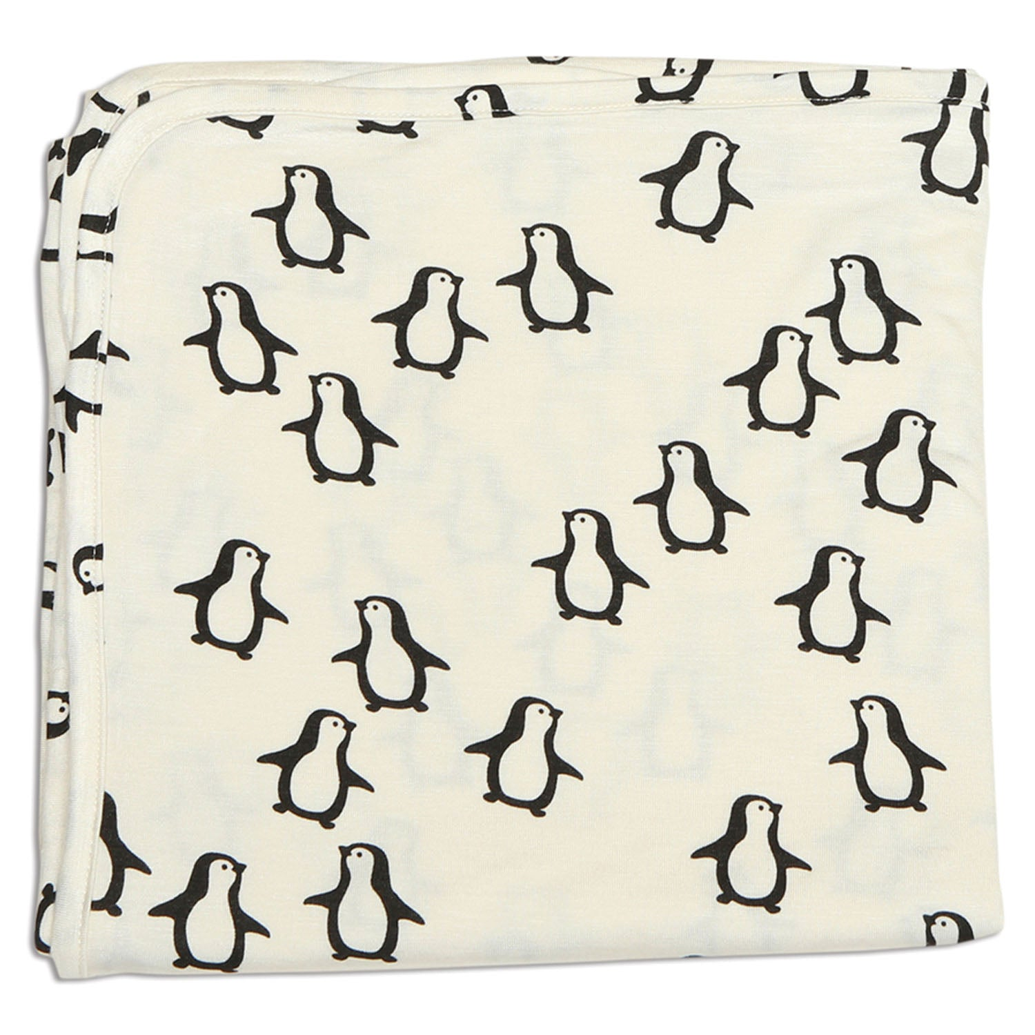 Silkberry Baby Bamboo Swaddle Blanket Penguin Waddle