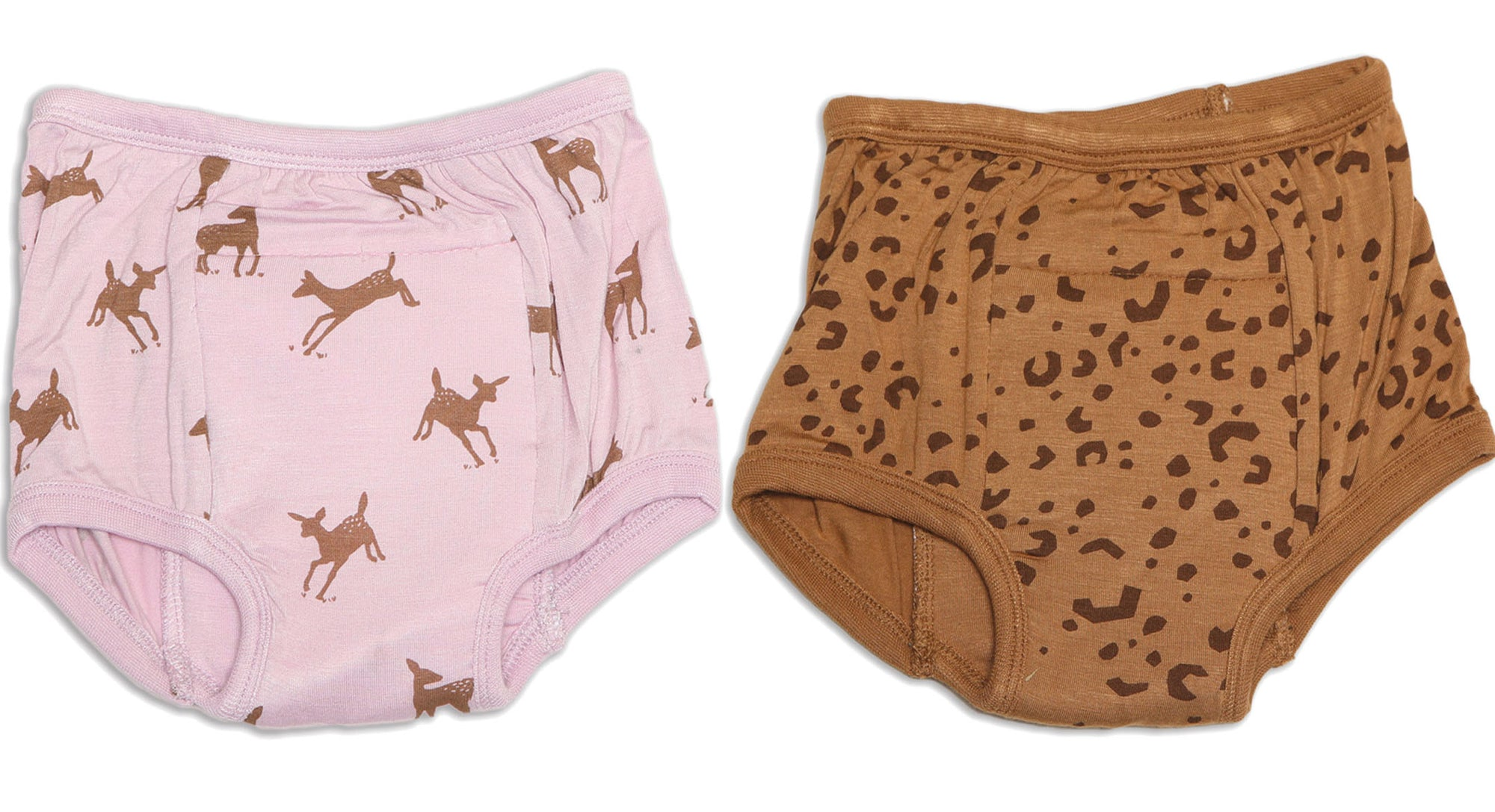 Silkberry Baby Bamboo Training Pants 2 Pack - Autumn Deer / Leopard