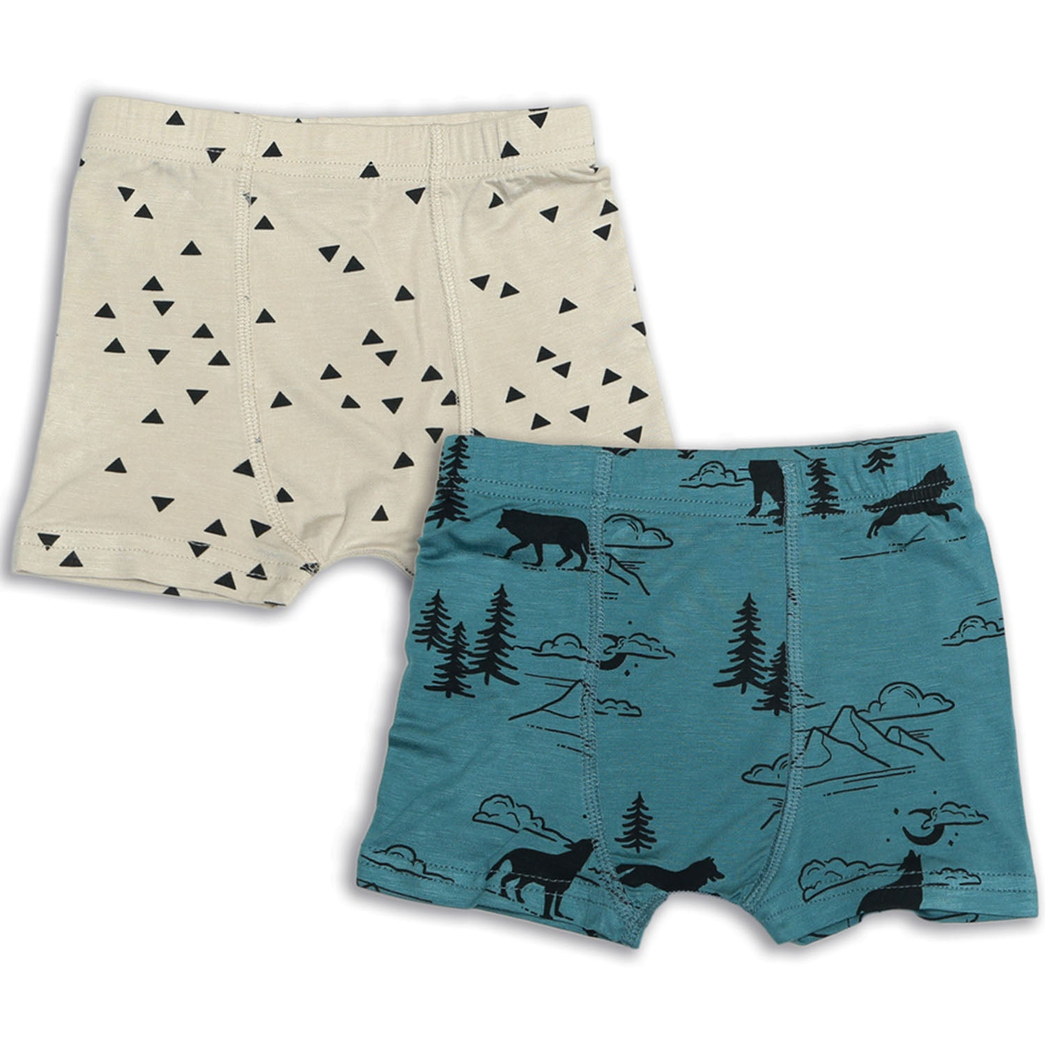 Silkberry Baby Bamboo Boys Underwear Shorts 2 PK - Call of the Wild / Apex