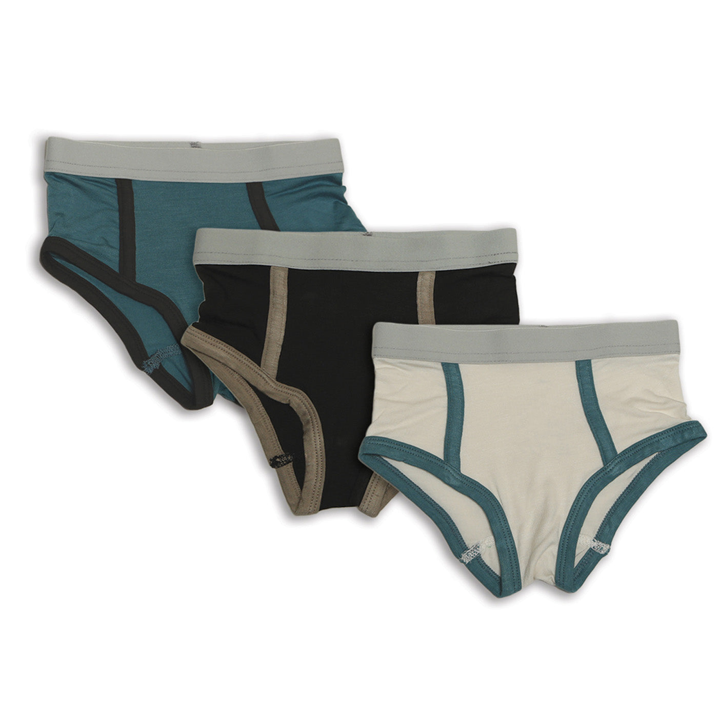 Silkberry Baby Bamboo Boys Briefs 3 PK - Blue Forest/Feather/Pirate Ship