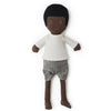 Hazel Village Organic William Doll in Natural Shirt and Linen Shorts
