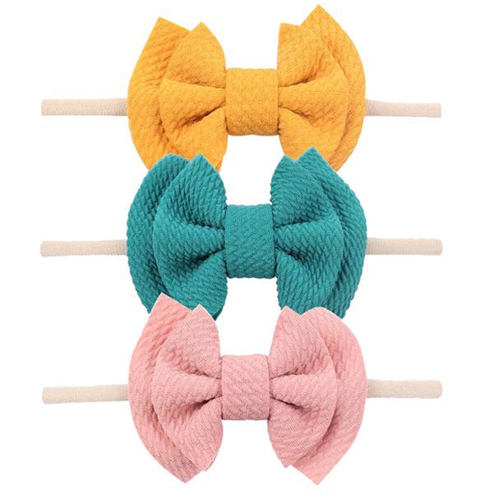 Emerson and Friends Waffle Bow Baby Headband Gift Set