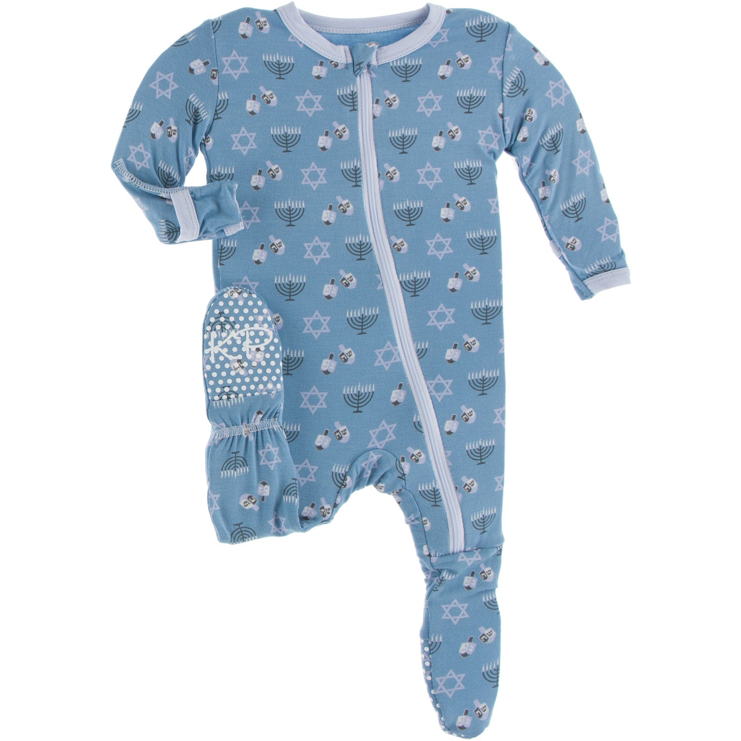 Kickee Pants Footie - Blue Moon Hanukkah