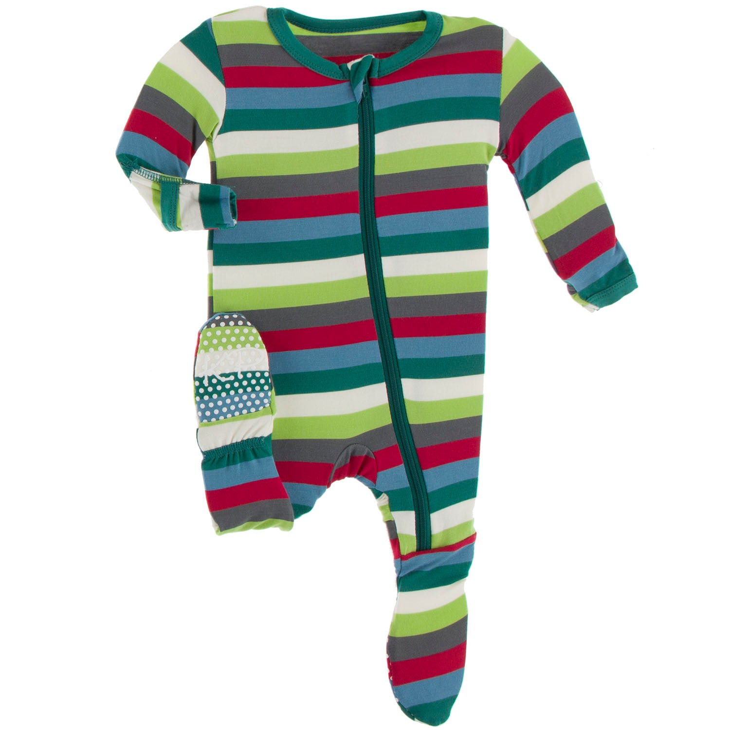 Kickee Pants Footie - 2020 Multi Stripe