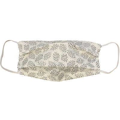 Reusable Cloth Face Mask - White Floral (Adult)