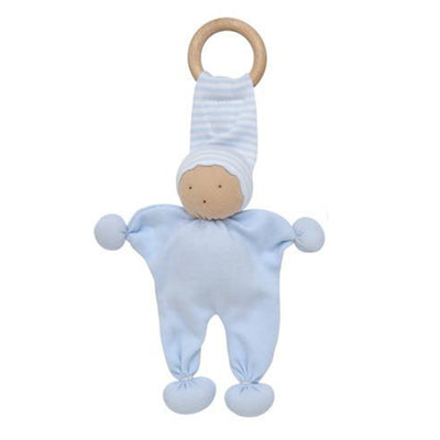 Under the Nile Organic Baby Buddy Teething Toy - Blue