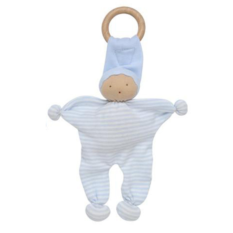 Under the Nile Organic Baby Teething Toy - Blue Stripe