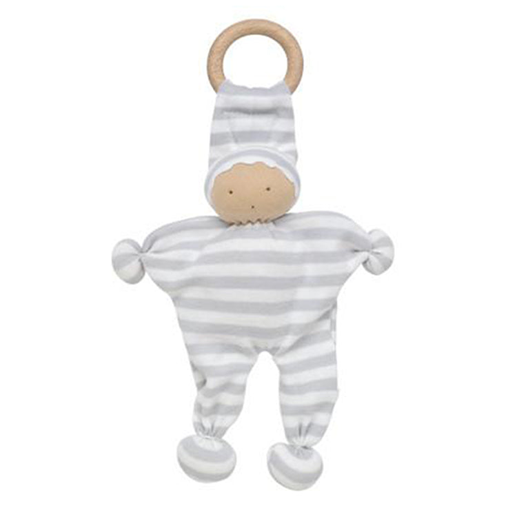 Under the Nile Organic Baby Teething Toy - Gray Stripe