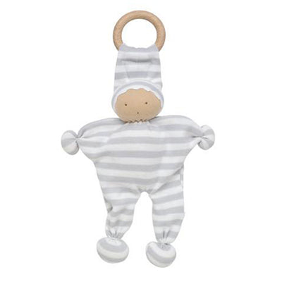 Under the Nile Organic Baby Buddy Teething Toy - Gray Stripe