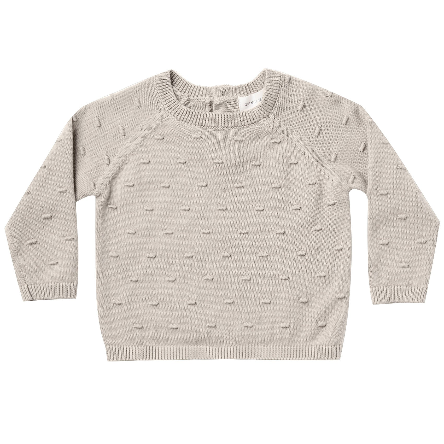 Quincy Mae Organic Bailey Knit Sweater Fog