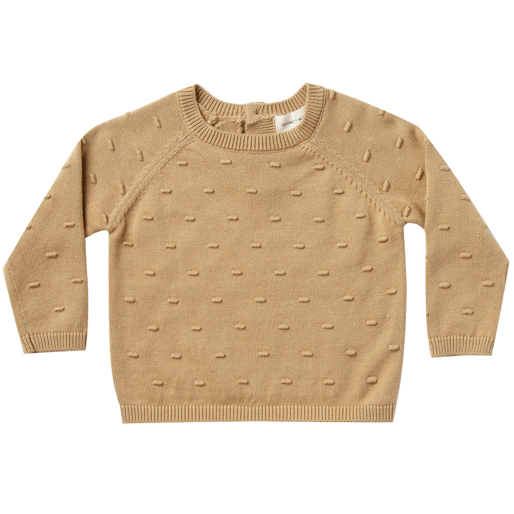 Quincy Mae Organic Bailey Knit Sweater Honey