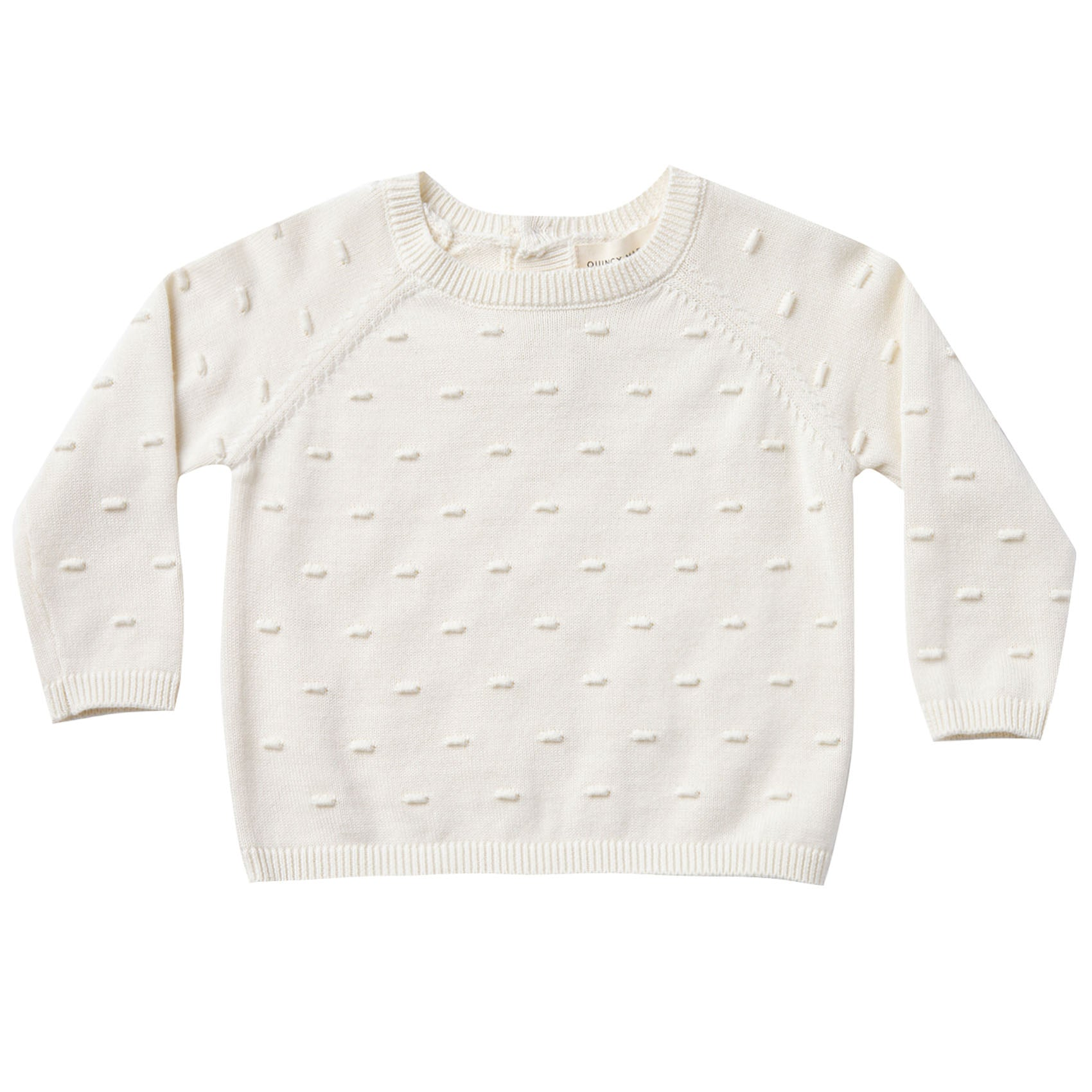 Quincy Mae Organic Bailey Knit Sweater Ivory