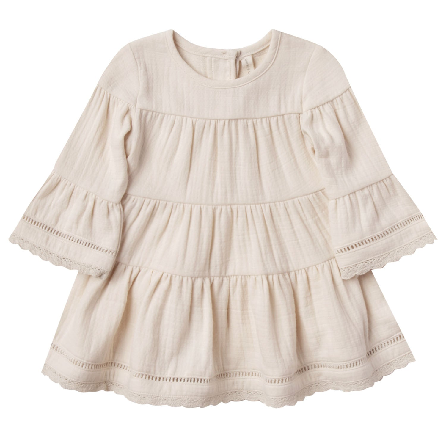 Quincy Mae Organic Belle Dress Pebble