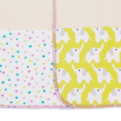 Logan + Lenora Orchid Eli Organic Burp Cloth Set