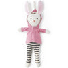 Hazel Village Organic Penelope Rabbit in Clover Jacket and Striped Leggings