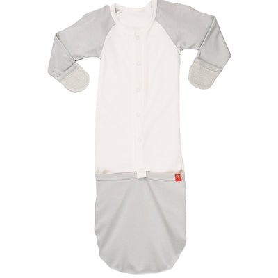 Goumikids Jamms Baby Gown - Gray Drops