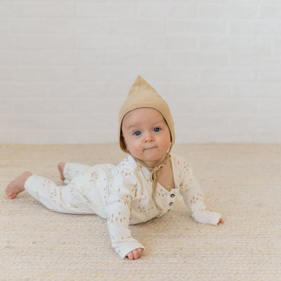 Quincy Mae Organic Pixie Bonnet Honey