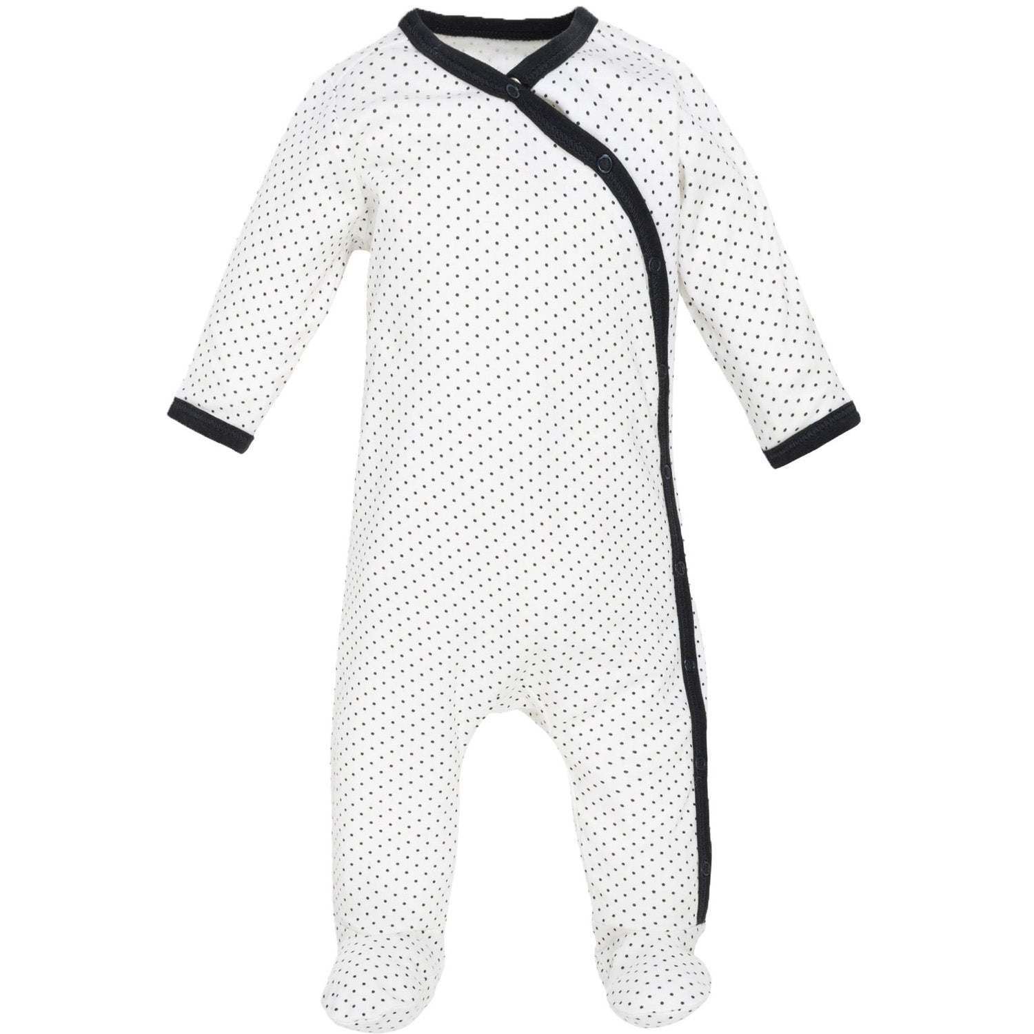 Under the Nile Organic Side Snap Footie - Polka Dots