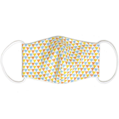 Kids Organic Cotton Face Mask - Triangles