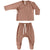Quincy Mae Organic Kimono Top + Footed Pant Set - Clay