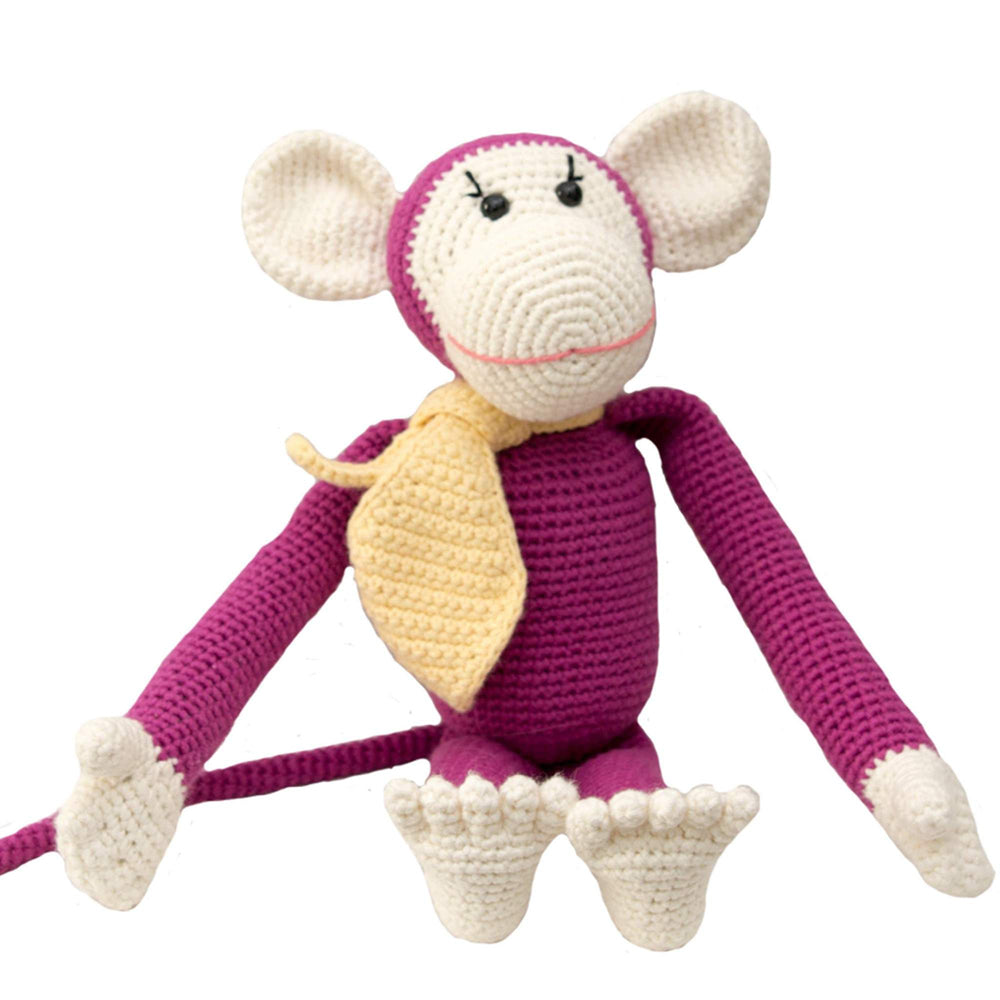 Bebemoss Hand Knit Toy Momo the Monkey